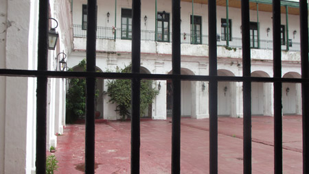 El patio del Museo Penitenciario Antonio Ballv. Foto: Elida Ramrez.
